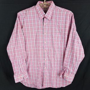 Peter Millar Red Plaid Check Shirt